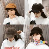 帽子女秋冬天新款百搭潮日系韓版英倫畫家報童帽八角帽毛呢貝雷帽