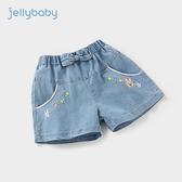 杰里貝比童裝嬰兒女寶寶夏裝兒童褲子夏季薄款外穿女童牛仔短褲夏 幸福第一站