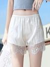 安全褲 冰絲白色打底安全短褲女防走光夏天薄款可外穿寬鬆絲綢防狼保險褲【全館免運】