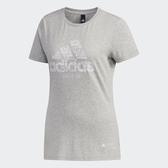 Adidas KC TEE BC TP [DY8752] 女 運動 休閒 圓領 短袖 上衣 舒適 棉T 台北 愛迪達 灰