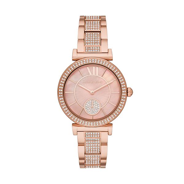 Michael Kors 閃耀氣質時尚腕錶-玫瑰金