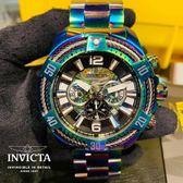 【INVICTA】三繩ㄧ生 - 三眼計時腕錶 - 變色龍繩索