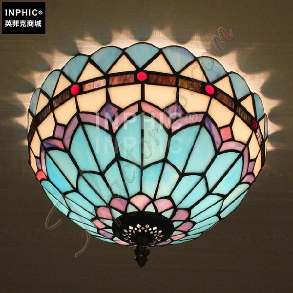 INPHIC-藍色地中海吸頂燈歐式復古簡約創意燈具餐廳臥室書房陽臺飄窗_S2626C