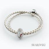 【SWAROVSKI】Hello Kitty施華洛世奇水晶串珠手環-白珠 (雙圈)