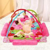 嬰兒用品超大音樂寶寶游戲墊毯爬行墊健身架益智玩具0-3-6-12個月igo『潮流世家』
