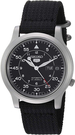 SEIKO【日本代購】男士手錶 網眼皮帶SNK809 K2黑色