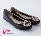 Velle Moven 典雅薔薇花包鞋 台灣製造 舒適好穿 /黑色