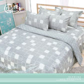 YuDo優多【輕格印像-灰】超細纖維棉雙人鋪棉床罩六件組-台灣製造