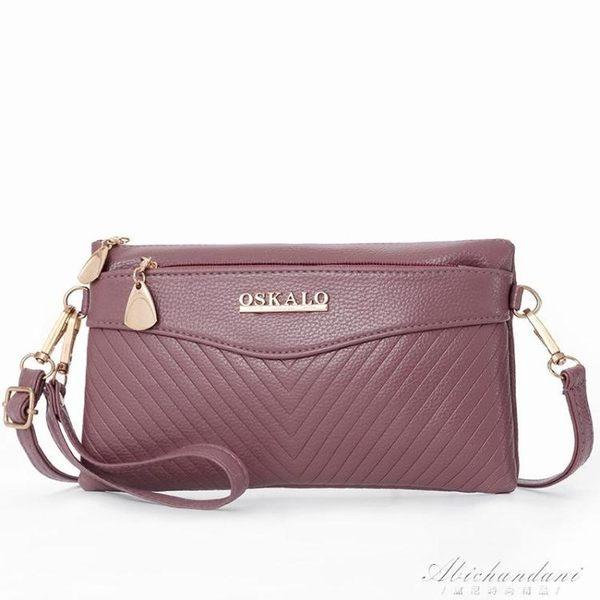 斜背小包包媽媽手機零錢包中老年人手拿買菜包側背包  黛尼時尚精品
