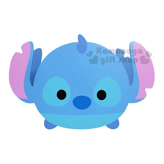 〔小禮堂〕Tsum Tsum 史迪奇 造型抽屜收納盒《藍.圓臉.方形》 4713052-38379