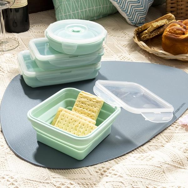 【店長超值推薦6折起】輕巧摺疊餐盒400ml-薄荷綠-生活工場