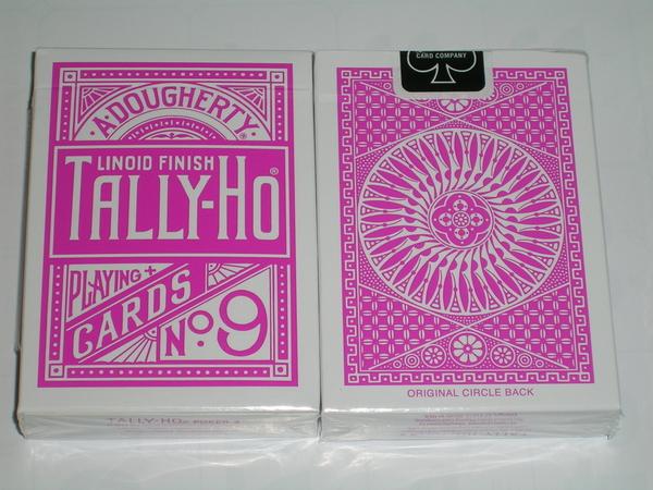 TALLY-HO 撲克牌 圓背 特製 粉紅背