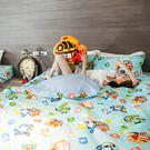 床包 / 單人【波力救援小英雄-藍】含一件枕套 韓國卡通 磨毛多工法 戀家小舖台灣製