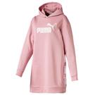PUMA Amplified 女裝 洋裝 休閒 連帽 基本款 LOGO 粉【運動世界】58107314