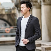 男士休閒西裝男修身韓版帥氣2018新款秋季小西服外套上衣青年潮流