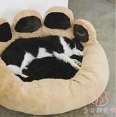 毛茸茸狗窩寵物冬天保暖床墊子可拆洗【少女顏究院】