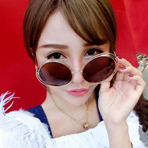 墨鏡 時尚孫芸芸款超大雙框復古太陽眼鏡【O2914】☆雙兒網☆