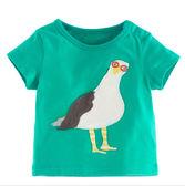 可愛鴿子貼布側肩扣短袖上衣 橘魔法 Baby magic 現貨 男女童 童裝