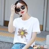 純棉短袖t恤ins韓版寬鬆紫色上衣夏季2020年新款女士裝 KP649【花貓女王】