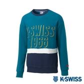 K-SWISS Round Sweat Shirts圓領長袖上衣-男-綠