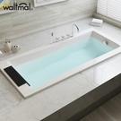 嵌入式浴缸壓克力家用成人歐式方形浴盆1.4 1.5 1.6 1.7米