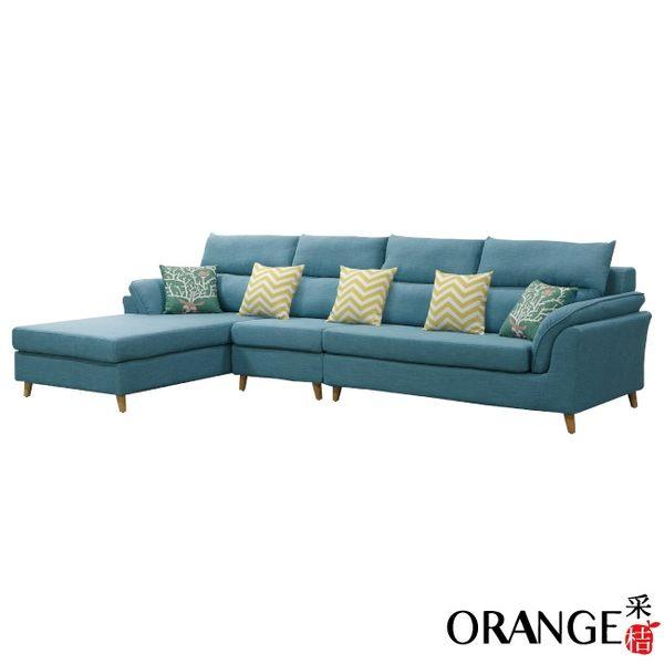 【采桔家居】米瑟 時尚亞麻布L型獨立筒沙發組合(左右二向可選+二色可選)