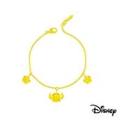 Disney迪士尼系列金飾 黃金手鍊-仲夏風情史迪奇款