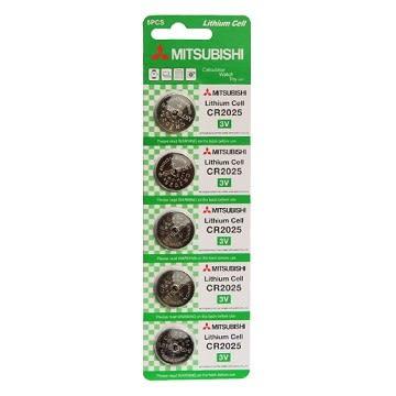 三菱 CR2025 鈕扣電池-5入裝