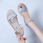 平底涼鞋 2020新款夏季涼鞋女仙女配裙子的學生鞋溫柔晚晚平底鞋女夏ins潮