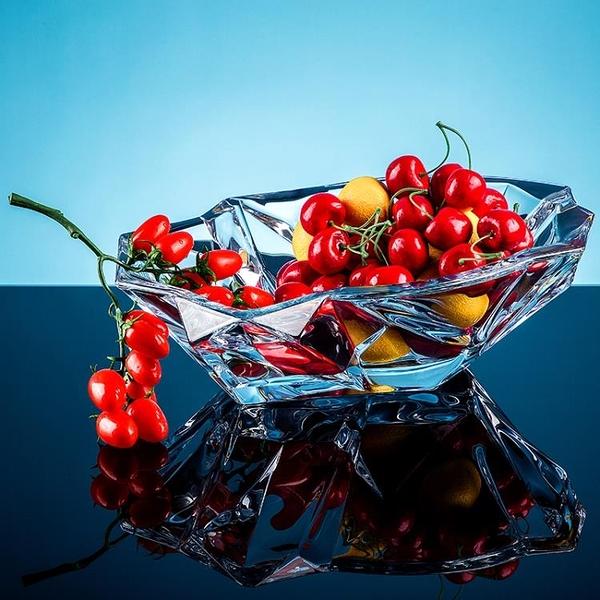 尺寸超過45公分請下宅配水果盤大號進口捷克水晶果盆歐式現代創意
