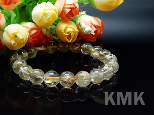 【KMK天然寶石】20顆(髮晶之王天然鈦晶-手珠)