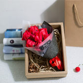 八八折促銷-香皂花情人教師母親節禮物玫瑰花肥香皂花束仿真送女友浪漫創意錶白禮盒xw