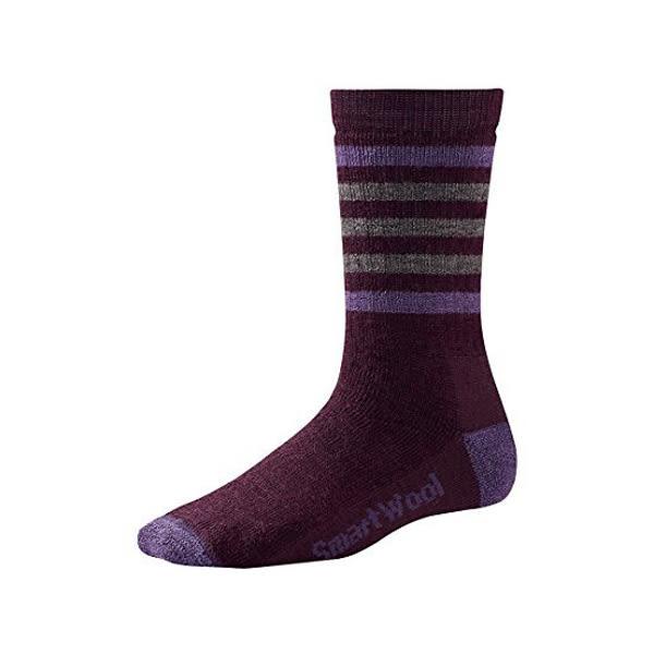[SmartWool] (女) 中級減震型條紋徒步中長襪 茄紫 (SW0SW145762)