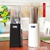 韓式創意筷子筒 筷子盒筷子架筷子籠筷籠 塑料帶蓋瀝水收納盒家用