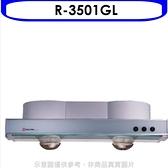 (含標準安裝)《結帳打9折》櫻花【R-3501GL】80公分隱藏式玻璃排油煙機