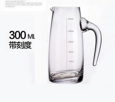 水晶玻璃帶把白酒刻度分酒器壺 紅酒醒酒器 倒酒壺 公道杯 量酒杯