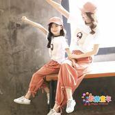 親子裝 女童套裝2019新款潮親子裝母女裝洋氣夏童裝韓版時尚全家裝家庭裝 1色