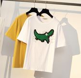 促銷價不退換中大尺碼T恤上衣XL-5XL/31045/大碼女裝寬松顯瘦圖案短袖T恤女加大碼時尚釘珠上衣