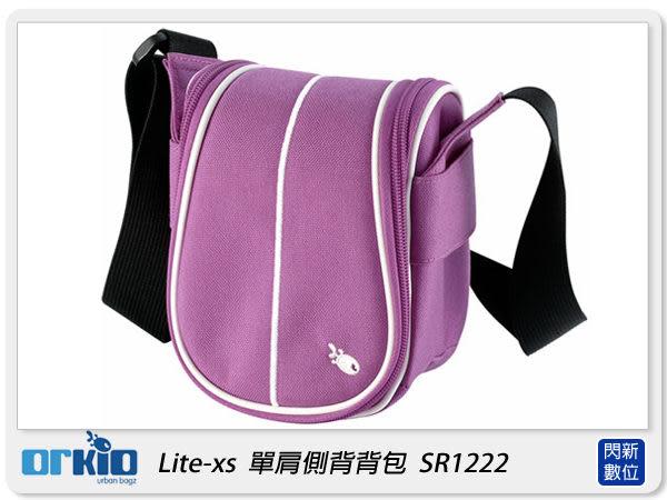 【分期0利率,免運費】ORKIO 比利時小魚 SR1222 單肩 側背 攝影背包 相機包 紫色