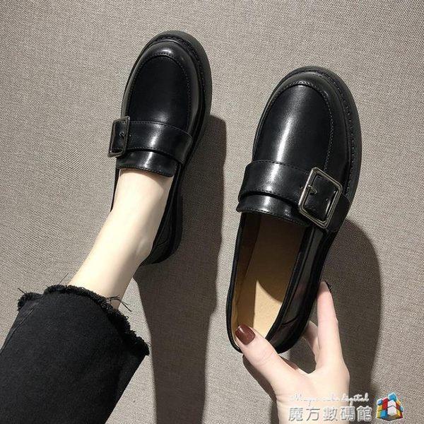 牛津鞋 ins小皮鞋女英倫風新款春季韓版百搭樂福鞋復古學生平底單鞋 魔方數碼館