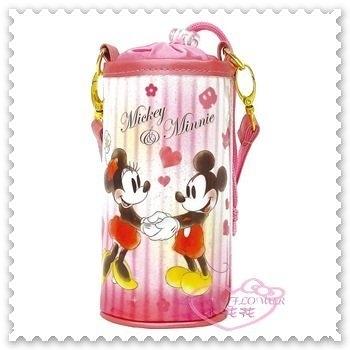 ♥小花花日本精品♥《Disney》迪士尼 米奇米妮 水壺套 站姿 愛心 粉色 日本限定 附提袋 01017007