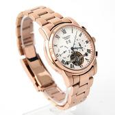 范倫鐵諾˙古柏 三眼玫金機械錶  柒彩年代【NEV18】正品原廠公司貨