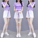 套裝女夏年新款小個子氣質洋氣減齡時尚小香風闊腿短褲兩件套NA32-A 依品國際