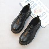 新款英倫學生復古小皮鞋女圓頭厚底百搭原宿布洛克馬丁鞋 夢想生活家
