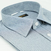 【金‧安德森】灰白格紋窄版短袖襯衫