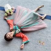 兒童唐裝 女童漢服秋裝2020新款唐裝中國風超仙洋裝春秋改良襦裙兒童古裝