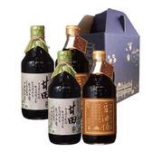 【台灣源味本舖】豆油伯金豆、甘田醬油四入禮盒組(童趣禮盒)
