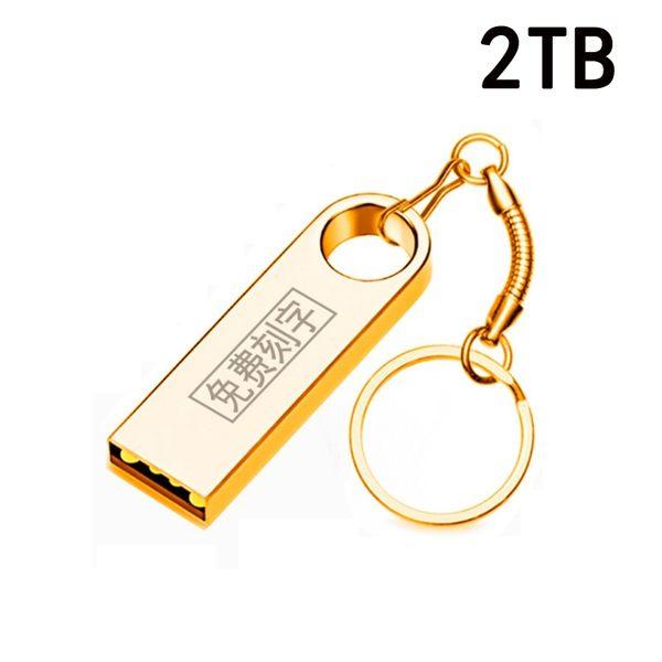 2TB 隨身碟 金屬禮品升級u盤 大容量防水隨身碟(快速出貨)