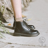 馬丁靴女秋季薄款八孔真皮六孔機車短靴學院圓頭日系【小酒窩服飾】