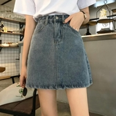 夏季2020新款韓版ins復古做舊水洗牛仔半身裙女高腰A字包臀短裙子 韓語空間